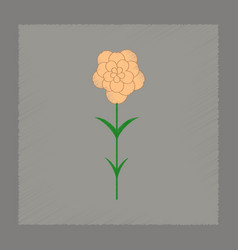 Flat shading style plant dianthus vector