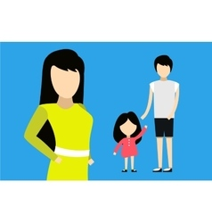 Happy family together portret home happy vector