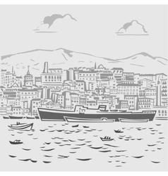 Harbor1 vector image