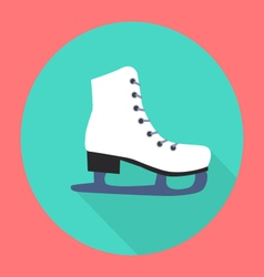 Ice skate flat icon vector image vector image