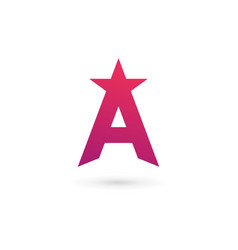 Letter a star logo icon design template elements vector