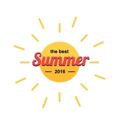 Modern summer sun logo vector