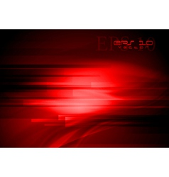 Red waves tech design vector image