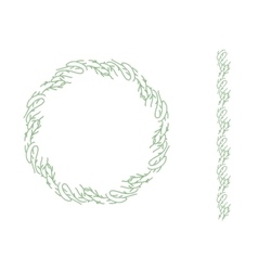 Round Christmas wreath isolated on white Endless vector image vector image