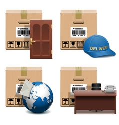 Shipment icons set 28 vector