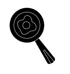 Skillet and turner kitchen utensils vector