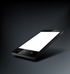 smartphone with a white screen vector image