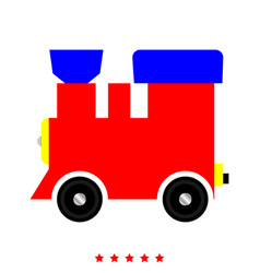 steam locomotive - train icon flat style vector image vector image