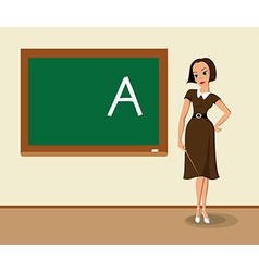 Teacher near the blackboard vector