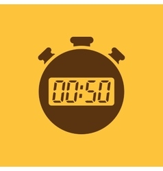The 50 seconds minutes stopwatch icon Clock and vector image vector image