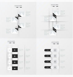 Timeline 4 item black and white color vector