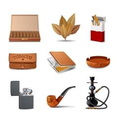 Tobacco icon set vector