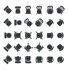 top view of chairs vector image