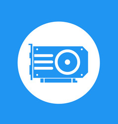 video card icon over white vector image