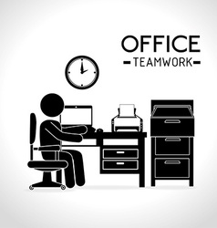 Work office design vector image vector image