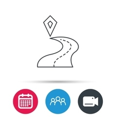 Destination pointer icon road location sign vector
