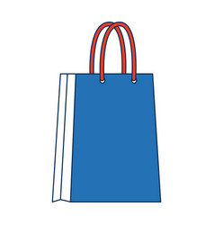 blue paper bag shopping empty vector image