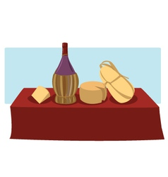 Italian food and wine vector