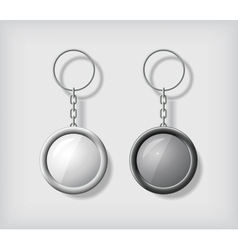 Two key chain pendants mockup vector