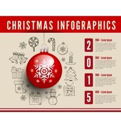 Christmas infographics vector image