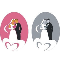 Wedding couple 01 vector