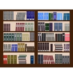 Bookshelf flat design vector