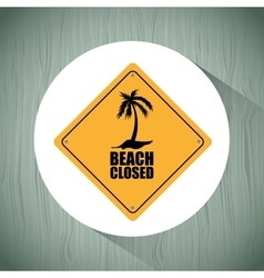 beach concept design vector image