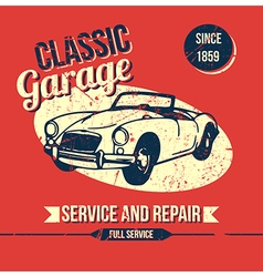 Vintage classic garage design vector