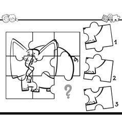 Jigsaw activity coloring task vector