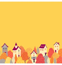 autumn background down vector image vector image