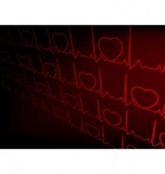 cardiogram ekg vector image vector image