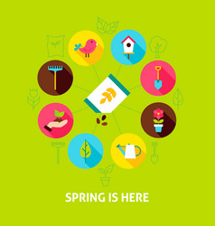Concept spring is here vector