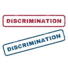 Discrimination rubber stamps vector