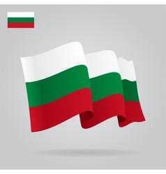 Flat and waving bulgarian flag vector