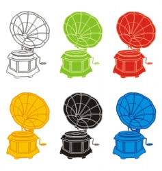 gramophones vector image vector image