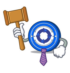 Judge cryptonex coin mascot cartoon vector