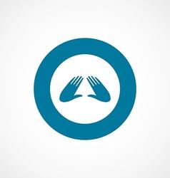 massage bold blue border circle icon vector image vector image