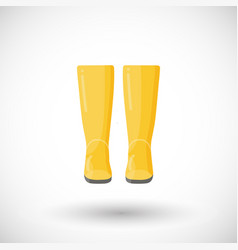 rain boots pair flat icon vector image