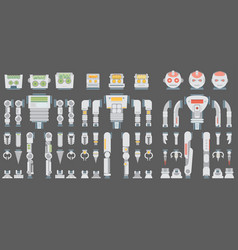 Robot design attributesbody parts and other vector
