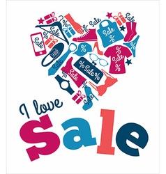 Sale hearts vector