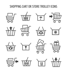 Shopping cart icons for web e-commerce vector image