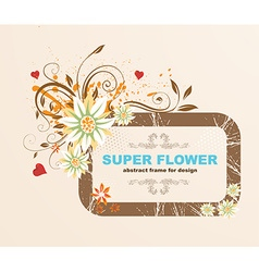 Super flower frame vector