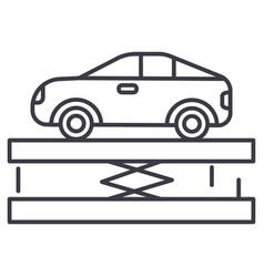suspensioncar service line icon sign vector image