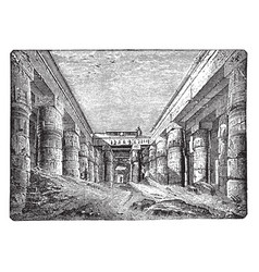 temple of chesnu at karnak ancient vintage vector image vector image