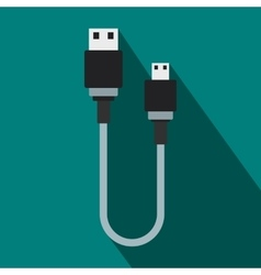 USB cable icon flat style vector image