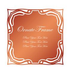 Vintage decorative label elegant ornamental frame vector