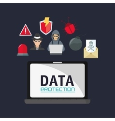 virtual security system icons image vector image