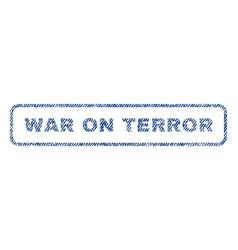 War on terror textile stamp vector