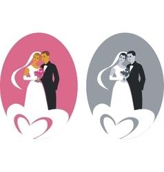 Wedding couple 01 vector