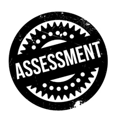 Assessment rubber stamp vector